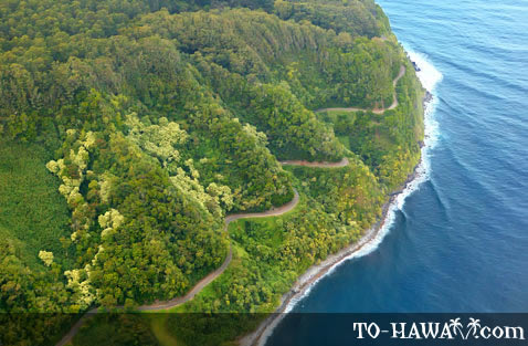 Road to Hana aerial view