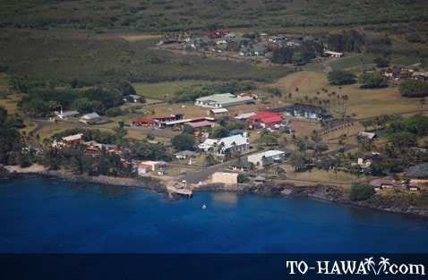 The village of Kalaupapa
