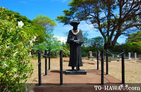 Saint Damien statue on Molokai