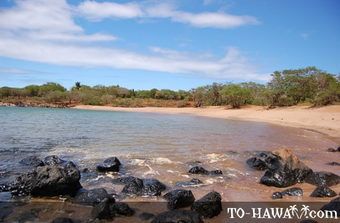 A beach on Molokai's west shore