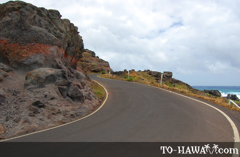 Narrow road continues to Halawa Valley