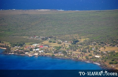 Isolated settlement on Molokai