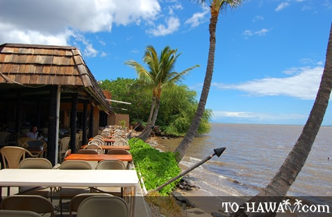 Oceanfront dining on Molokai