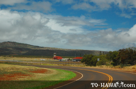 Driving by Molokai Airport