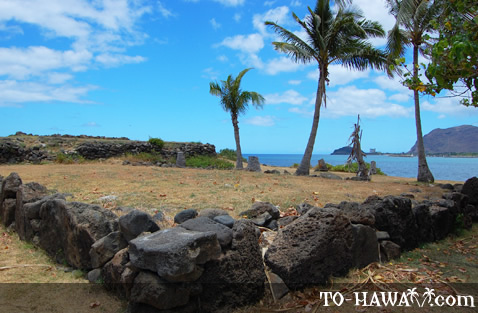 Heiau has three terraced platforms