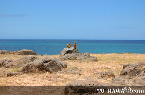 Top part of the heiau