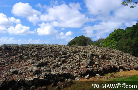 Ancient heiau in Kailua