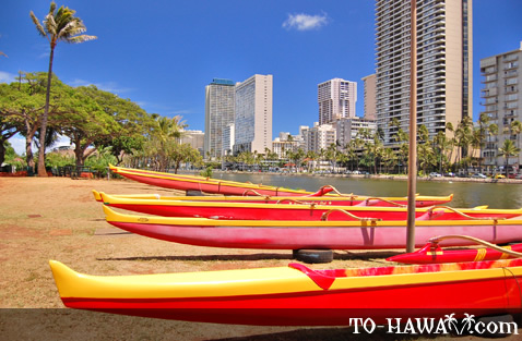 Canoes at Ala Wai Canal