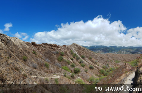 Beautiful views from Diamond Head trail