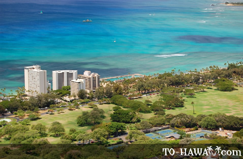 View to Kapiolani Park and Gold Coast