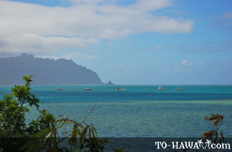 Ko'olau Mountains and Chinaman's Hat