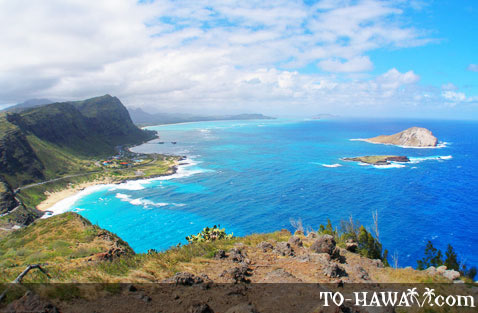 Makapu'u Beach and Rabbit Island