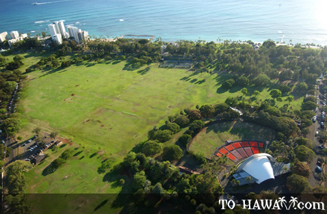 Kapiolani Park and Waikiki Shell