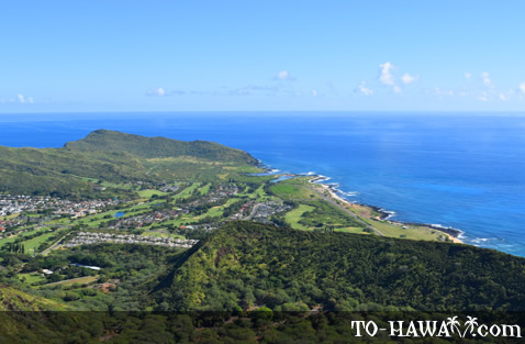 View to Oahu's south shore