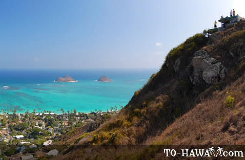 Lanikai Pillbox Trail near Kailua