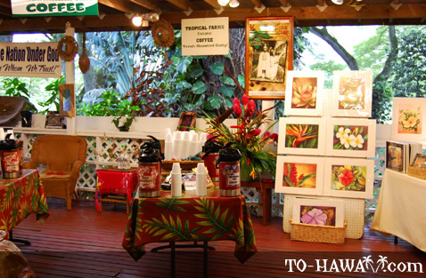 Hawaiian Coffee sampling