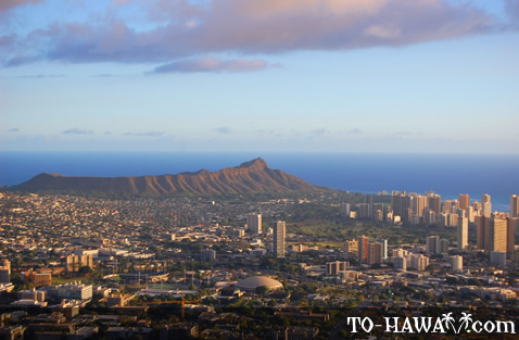 View to Diamond Head Crater