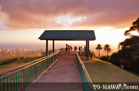 Lookout point at Pu'u Ualaka'a State Park