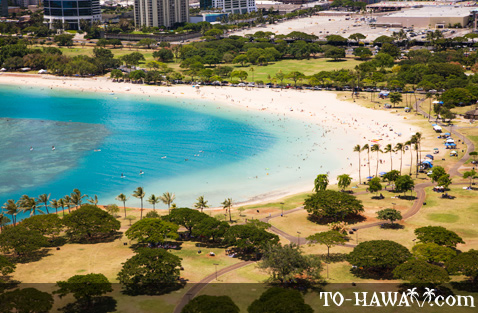 Aerial view of Ala Moana Park
