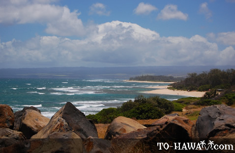 View from a lookout point near Ka'ena