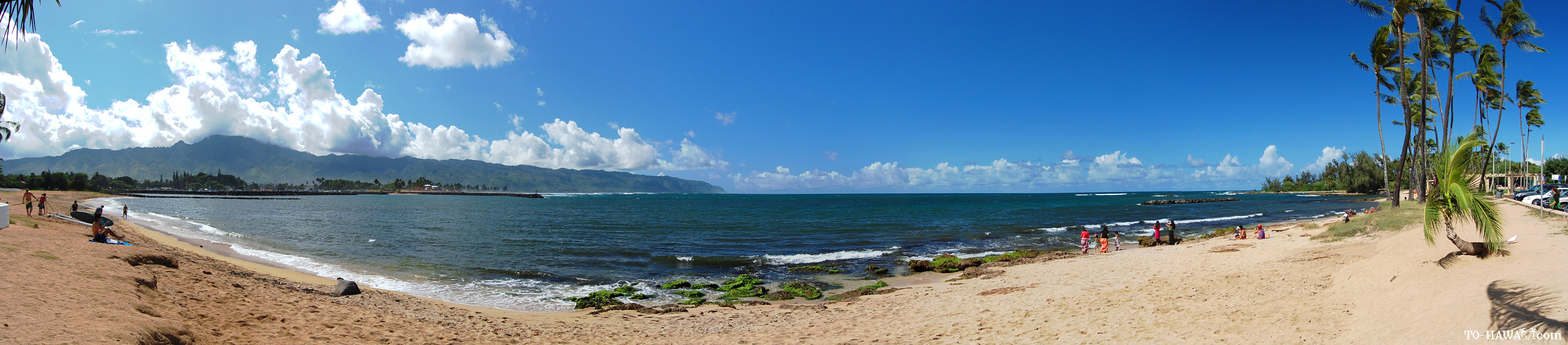 Index Of Oahu Beaches Images Haleiwabeach2 Pano