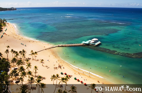 Kahanamoku Beach from above