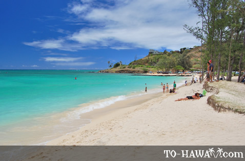Popular beach on Oahu