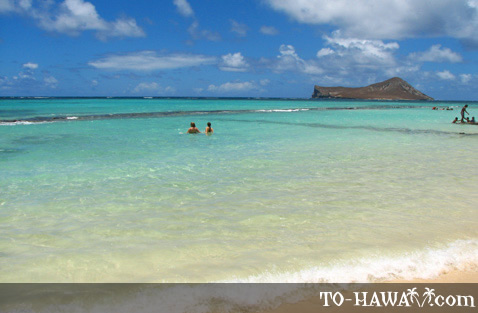 Good swimming beach on Oahu