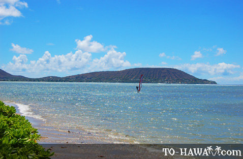 Windsurfing at Kawaiku'i Beach