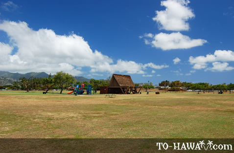 Large park near Honolulu Airport