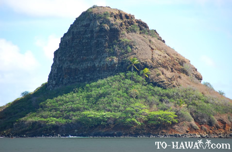 Up-close view of Chinaman's Hat