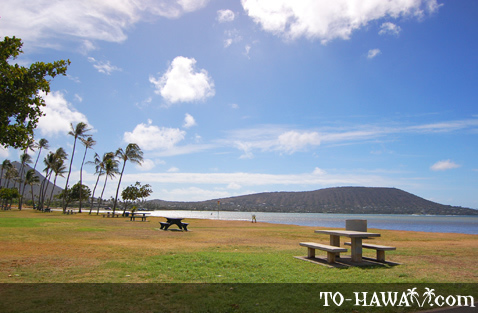 Large park in Hawaii Kai