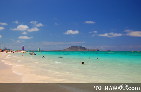 Popular east shore Oahu beach