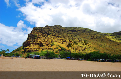 Backed by the Waianae Mountains