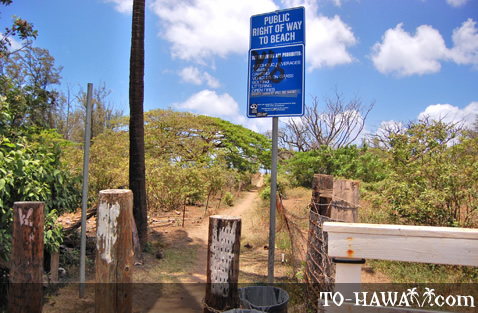 Public beach access and trail
