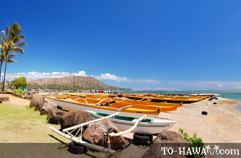Kayaks on Maunalua Bay