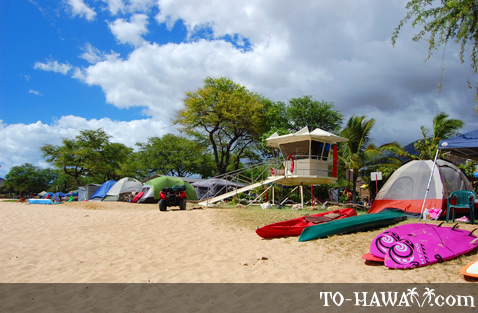 Busy weekend at Nanakuli Beach