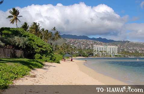 Looking towards Kahala Hotel & Resort
