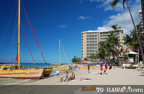 Looking towards Sheraton Waikiki