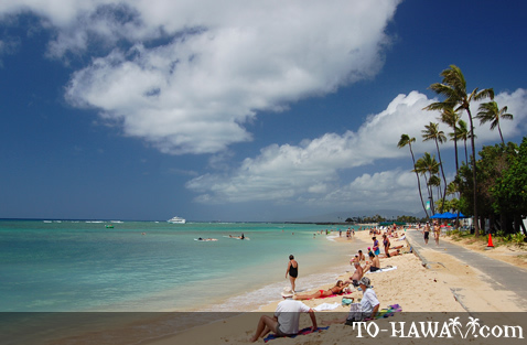 Beach near Outrigger Waikiki On the Beach