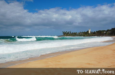 Waimea Bay in the winter