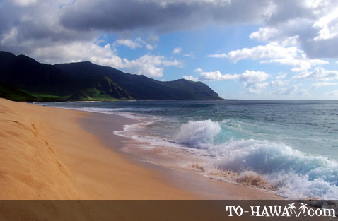 Remote Oahu beach