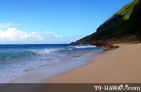 Beach also known as Keawa'ula Beach