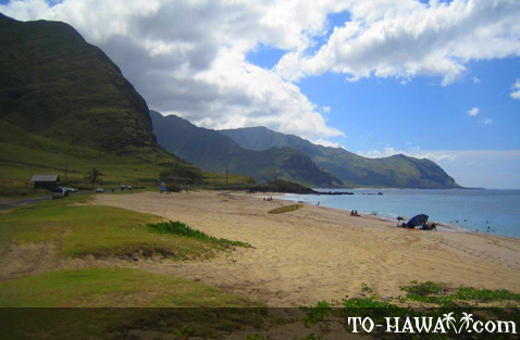 Backed by Waianae Mountain Range
