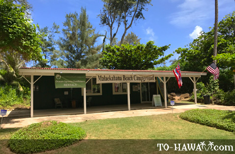 Malaekahana Beach Campground office