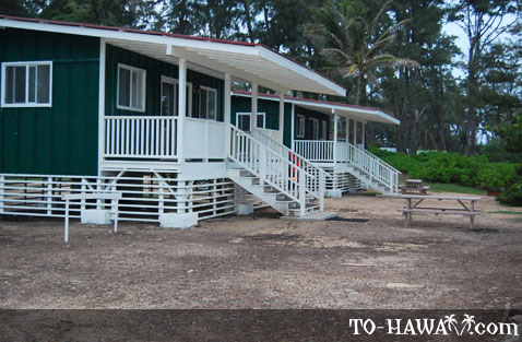 Oahu camping malaekahana beach campground to for Oahu camping cabins