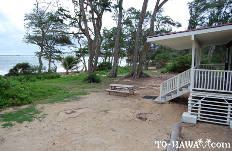 More malaekahana beach campground photos for Oahu camping cabins