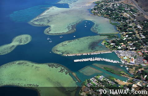 Aerial view of Kane'ohe Bay