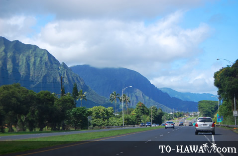 Driving to Kane'ohe