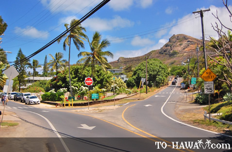 Upscale neighborhood near Kailua